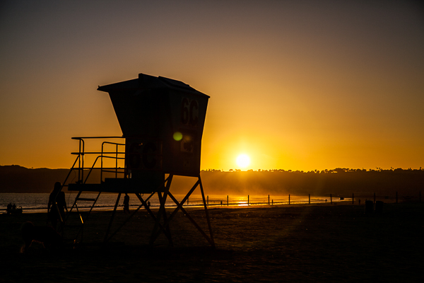 Coronado Island Beach Sunset