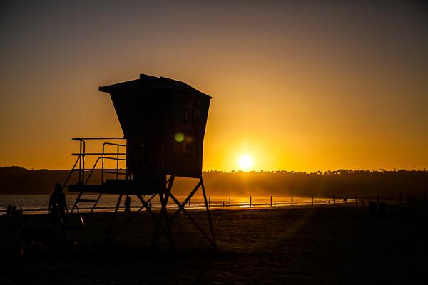 Sonnenuntergang auf Coronado Island