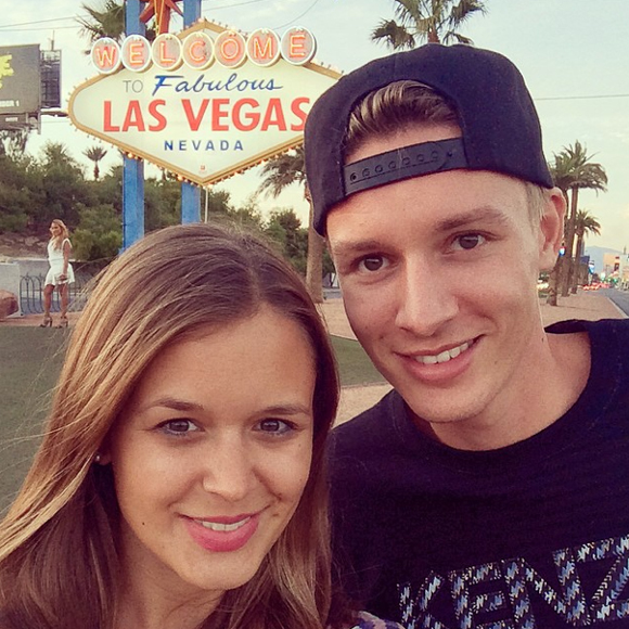 Vor dem berühmten Las Vegas Sign