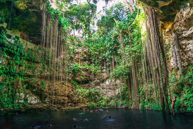 Cenote Ik Kil und Cenote Azul auf der Halbinsel Yucatán in Mexiko
