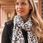 Leopard-Print Angora-Blend Scarf Michael Kors