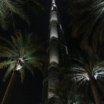 Burj Khalifa at night Dubai