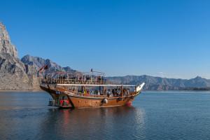 Dhau Boot Oman Fjord Musandam