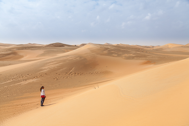 Eine Safari in der Rub al-Chali Wüste in Abu Dhabi