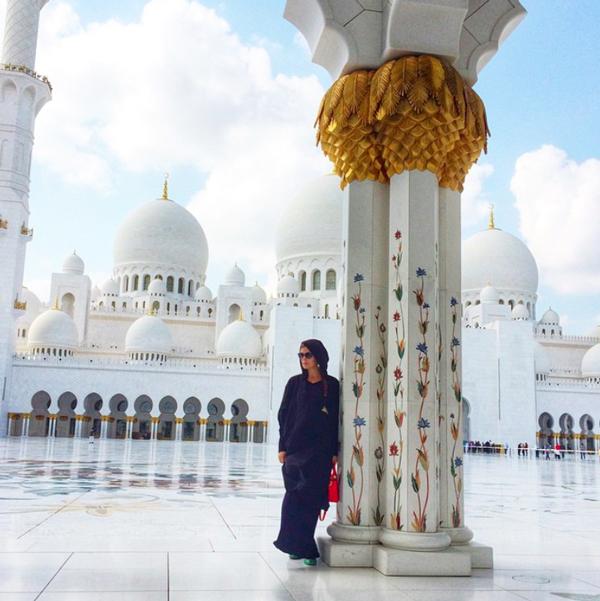 Die Grand Mosque in Abu Dhabi