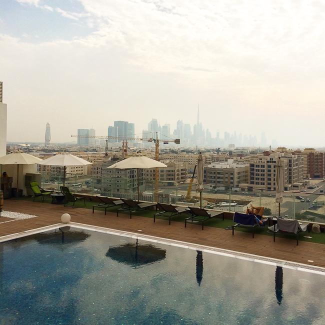 melia dubai hotel pool view