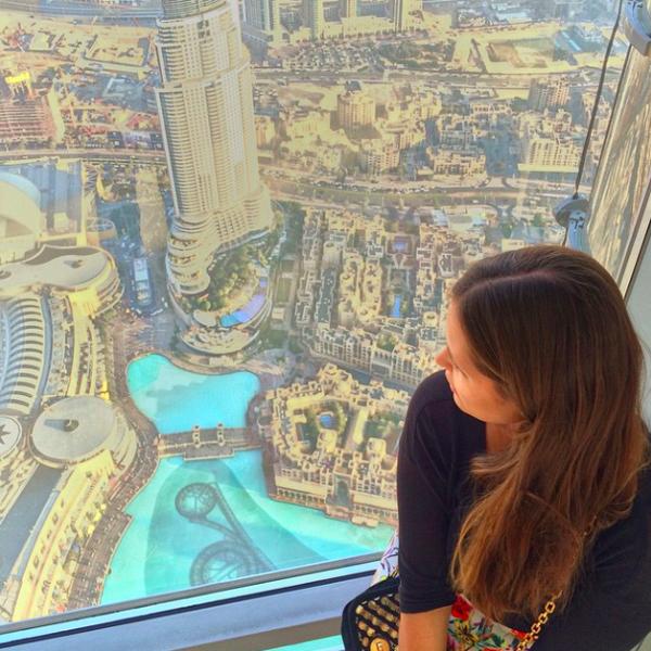 Auf dem höchsten Gebäude der Welt