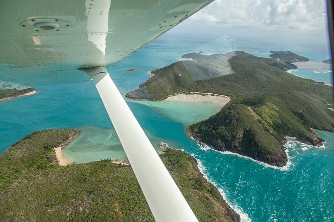 Unser Flug über die Whitsunday Islands und das Great Barrier Reef