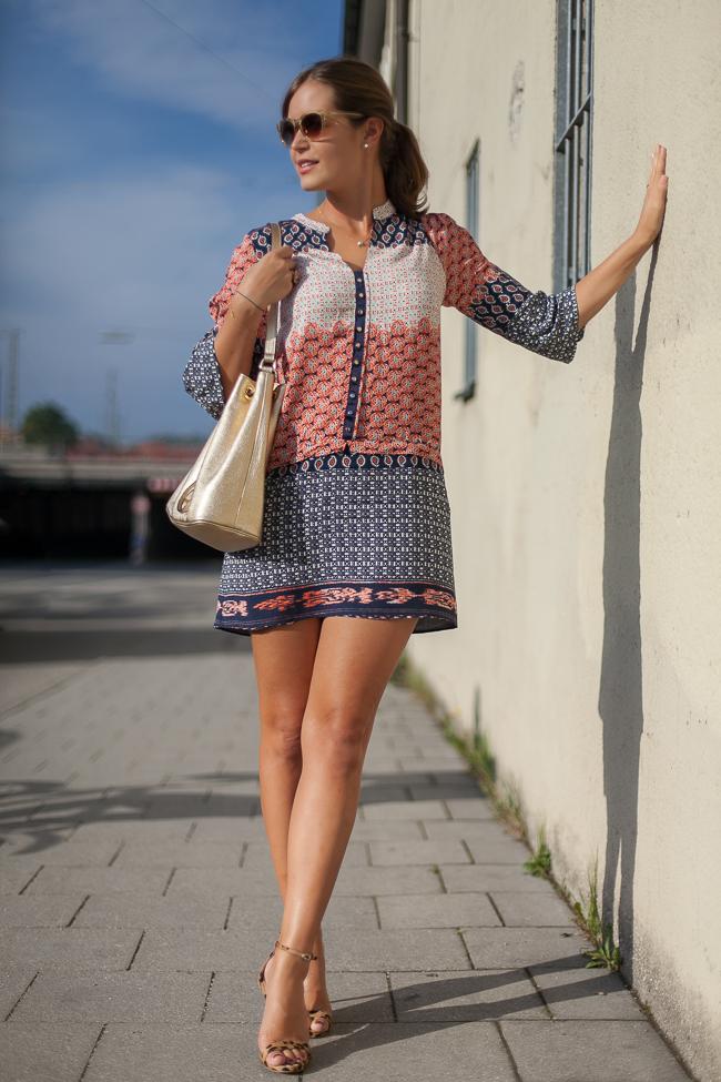 Zara Kleid Tunika Sommer 2015