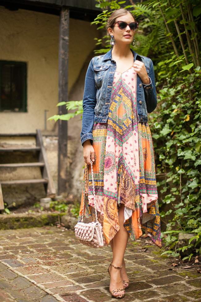 Boho Kleid Zara Sommer 2015