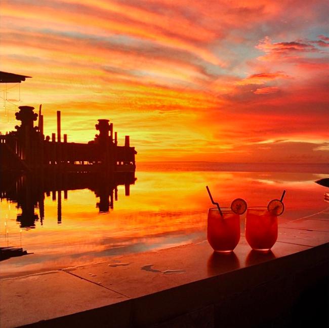 Der schönste Sonnenuntergang auf Bali