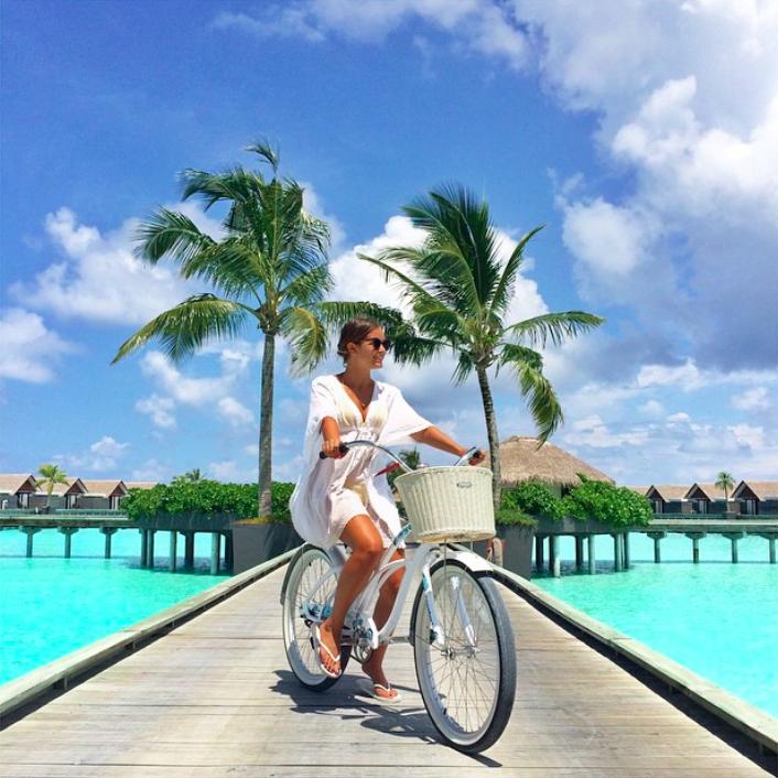 Fahrradfahren auf den Malediven