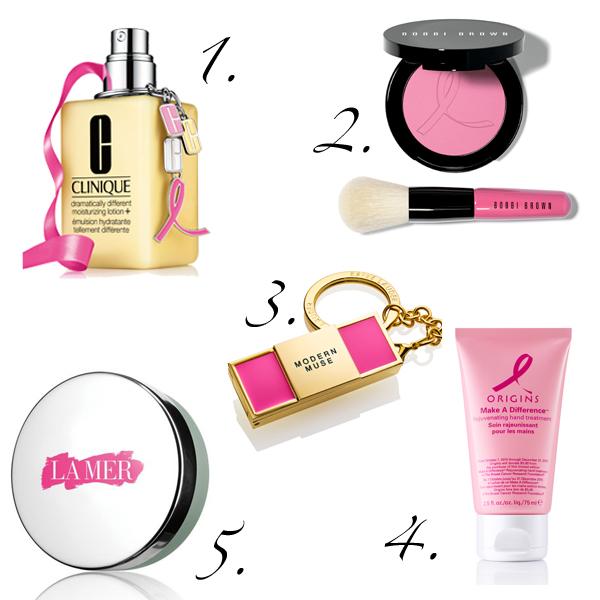 Brustkrebsmonat Oktober: Charity-Beautyprodukte von FABY, Estèe Lauder, Clinique, Bobbi Brown, Origins und La Mer
