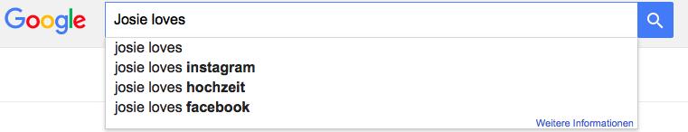 Die lustigsten und absurdesten Google-Suchanfragen für Josie loves