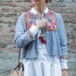 Ein farbenfroher Fashion Week Look