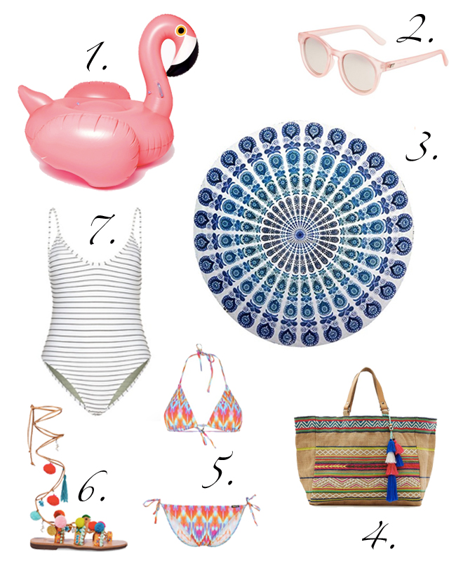 Essentials für einen Tag am Strand
