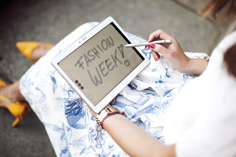 Auf der Fashion Week mit dem HUAWEI MediaPad M2