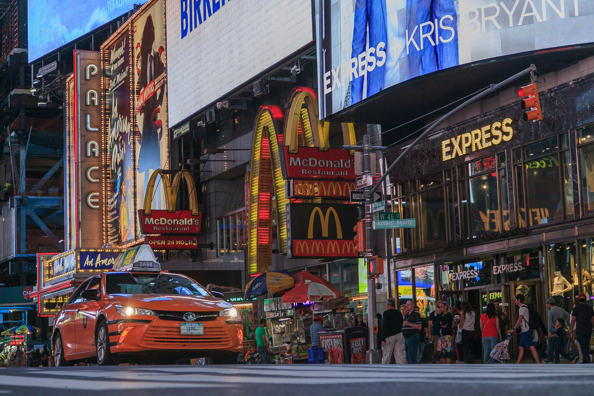 Times Square Sonnenuntergang