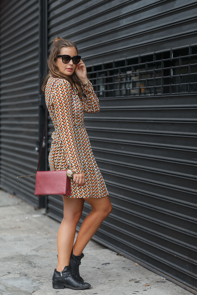 New York Fashion Week: Pepe Jeans Kleid + HALLHUBER Boots