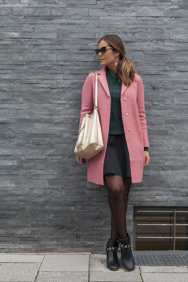 Herbst Outfit mit Mantel