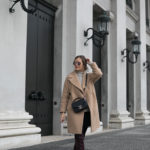 CONLEYS Blue Pullover + Overknee Boots + Chanel Bag