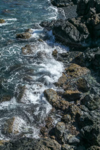 Drohe Aruba Küste