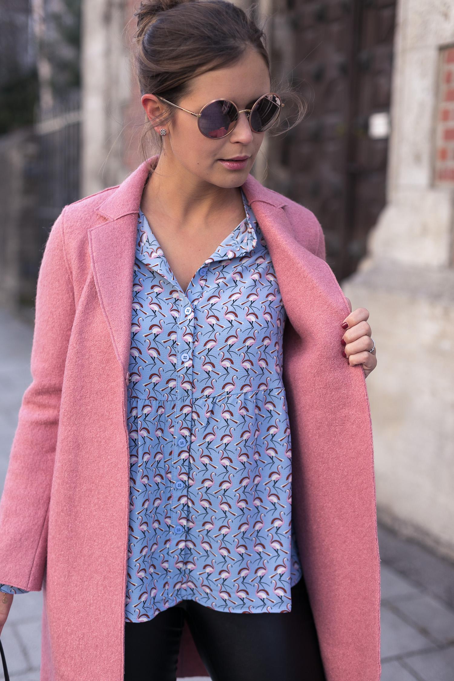 Bluse Flamingo Rosa