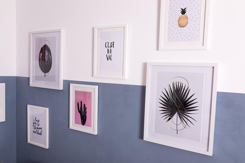 Bilder und Wandfarbe für den Essbereich