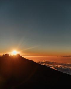 Sonnenuntergang Vulkan Hawaii