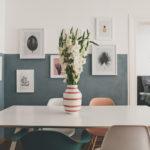 Wand halb gestrichen mit Bildern: Ideen für die Wandgestaltung