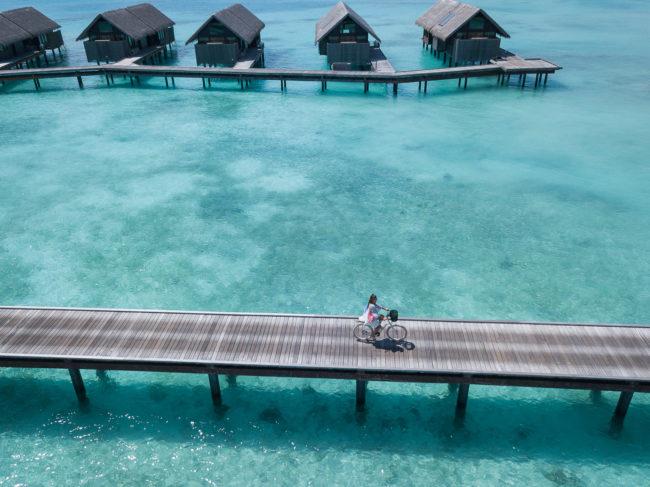 Shangri La Malediven Fahrrad fahren