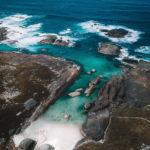 Elephant Cove und Elephant Rocks mit der Drohne