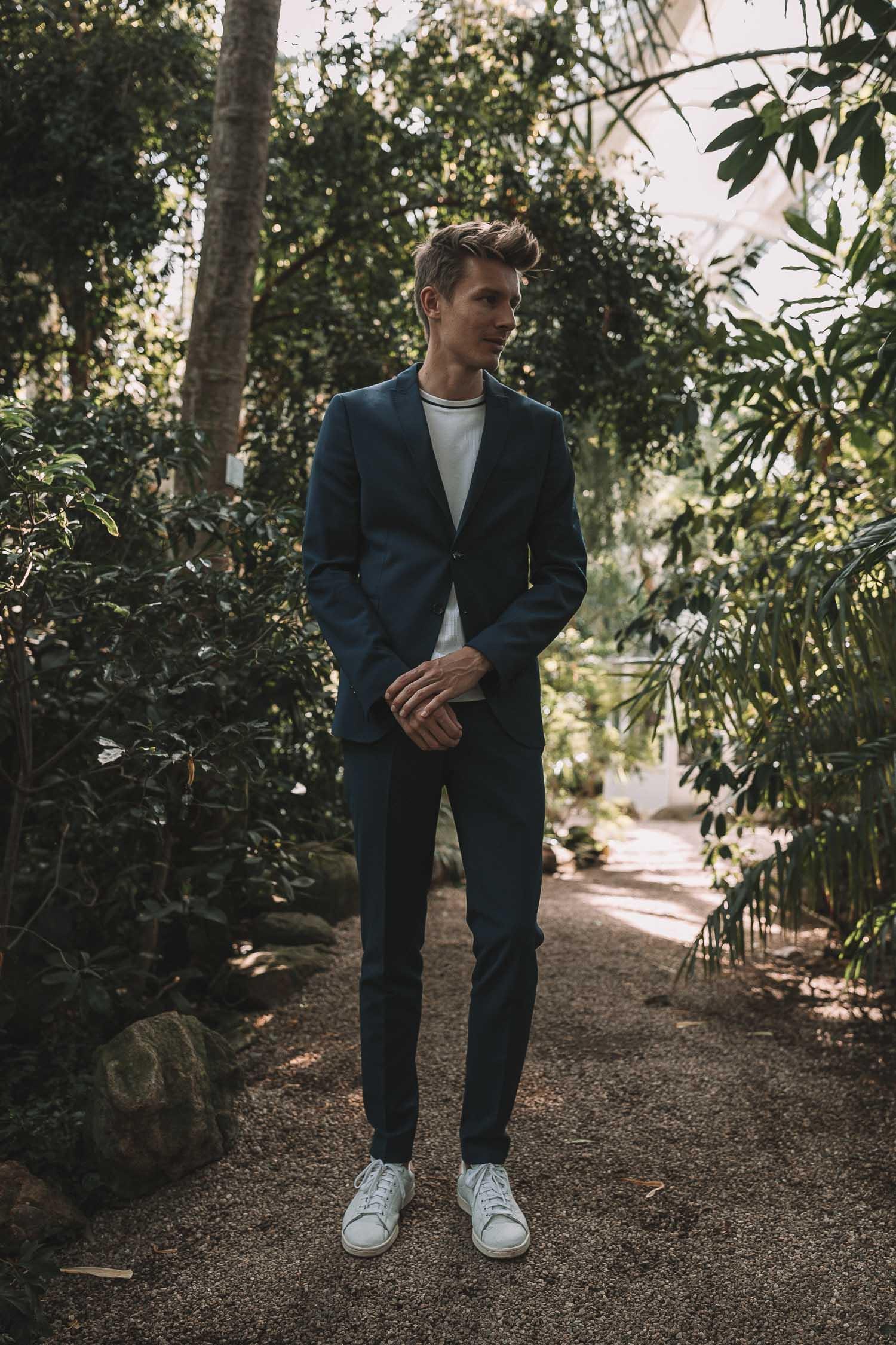 2b5a0ed8cde47c Outfit Hochzeitsgast CINQUE Anzug blau-4 - Josie Loves
