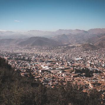 Ausblick auf Cusco in Peru