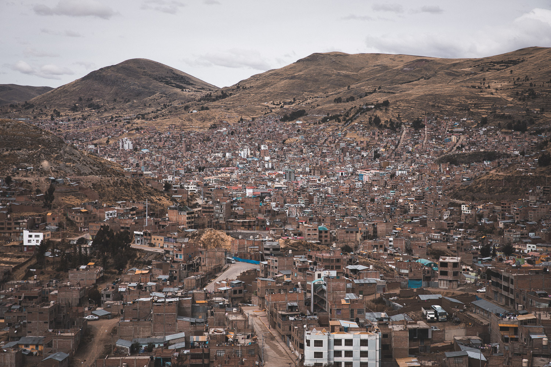 Blick über Puno, Peru