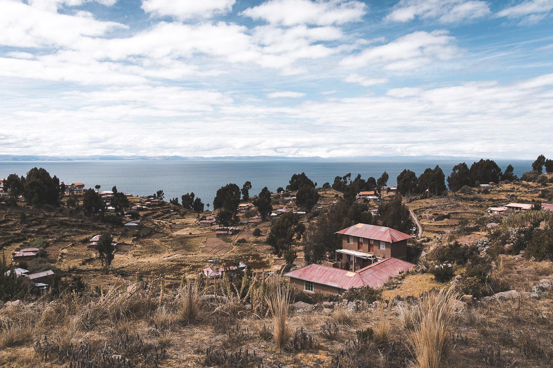Blick auf den Titicacasee, Peru