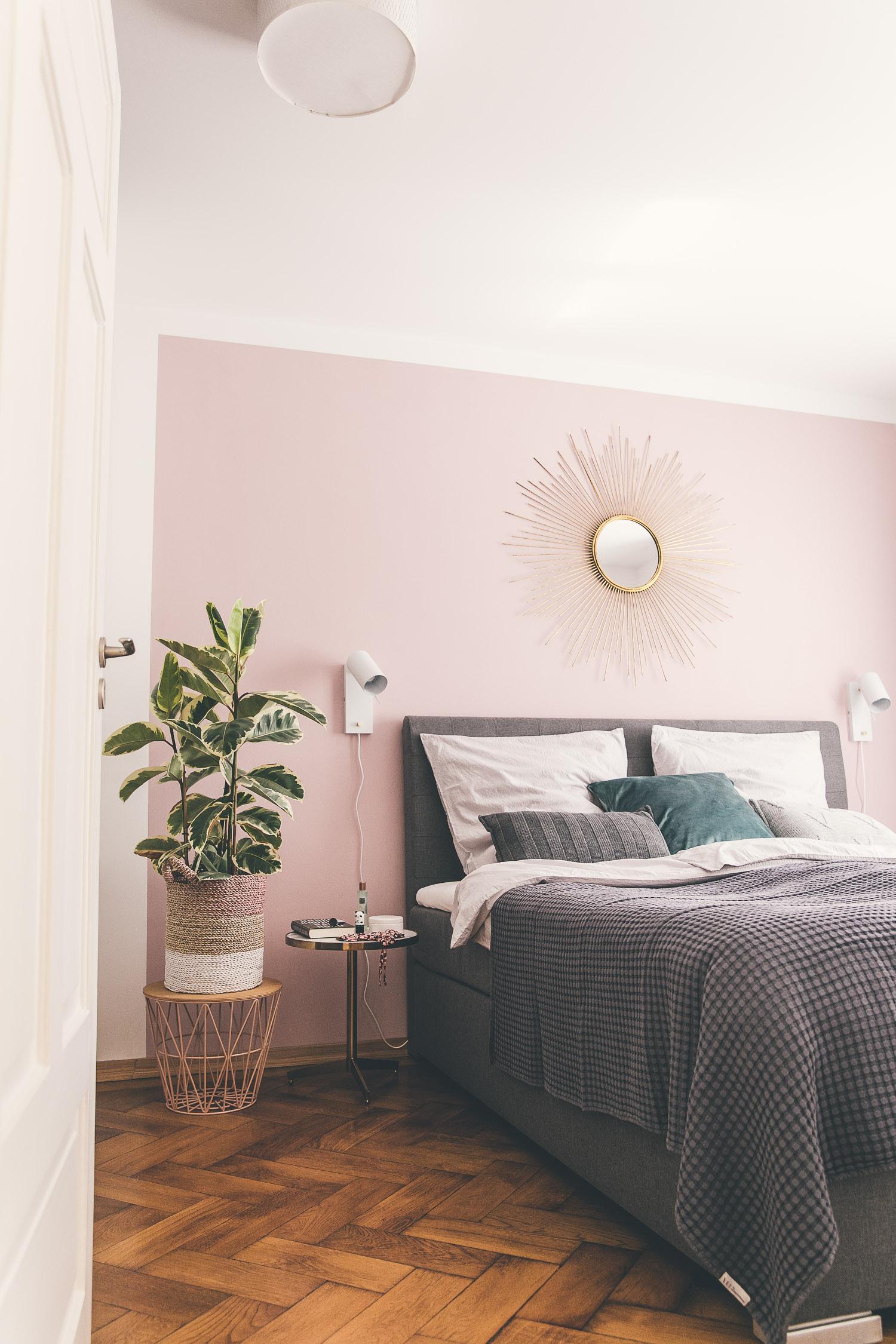 Schlafzimmer Wand Rosa-2 - Josie Loves