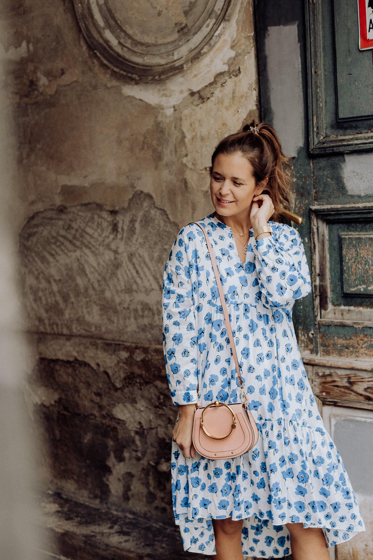 zara kleid blumen blau-2 - josie loves