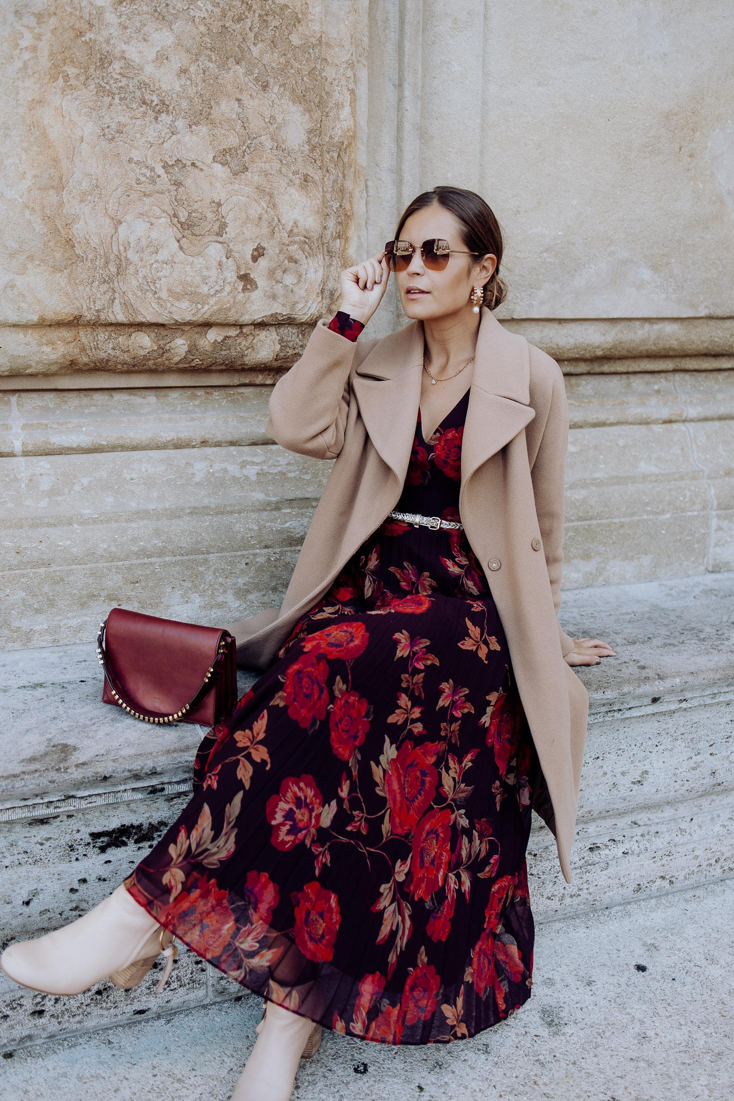 Hallhuber Kleid Blumen rot_19 - Josie Loves